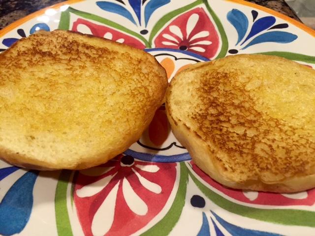 Toasted brioche buns
